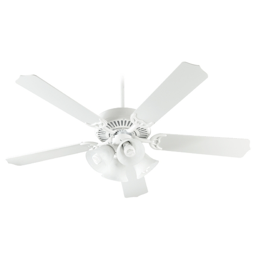 Quorum Lighting Quorum Lighting Capri V Studio White Ceiling Fan with Light 77525-8108