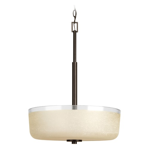 Progress Lighting Progress Lighting Alexa Antique Bronze Pendant Light with Bowl / Dome Shade P3846-20