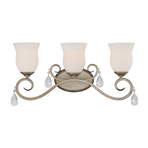 Designers Fountain Lighting Designers Fountain Gala Argent Silver Bathroom Light 86003-ARS