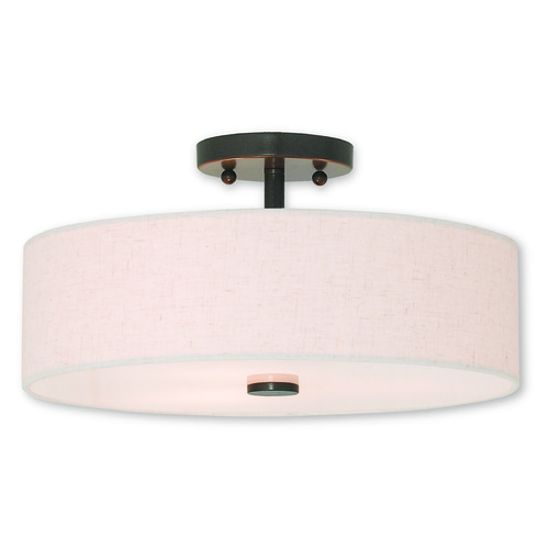 Livex Lighting Livex Lighting Meridian English Bronze Semi-Flushmount Light 52135-92