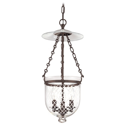 Hudson Valley Lighting Pendant Light with Clear Glass in Old Bronze Finish 252-OB-C2