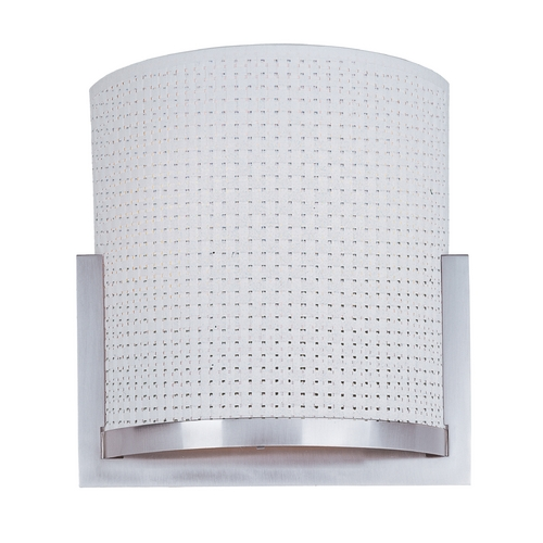 ET2 Lighting Modern Sconce Wall Light with White Shades in Satin Nickel Finish E95088-100SN