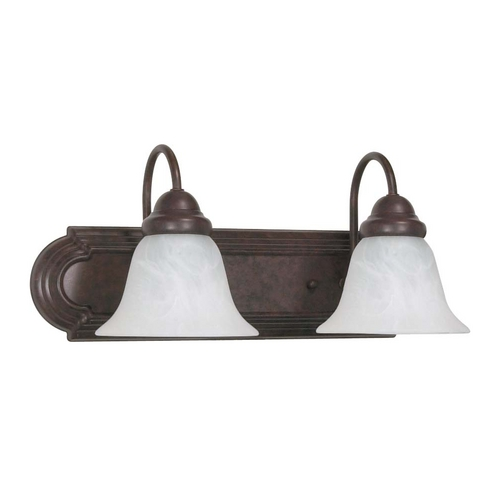 Nuvo Lighting Bathroom Light with Alabaster Glass in Old Bronze Finish 60/324