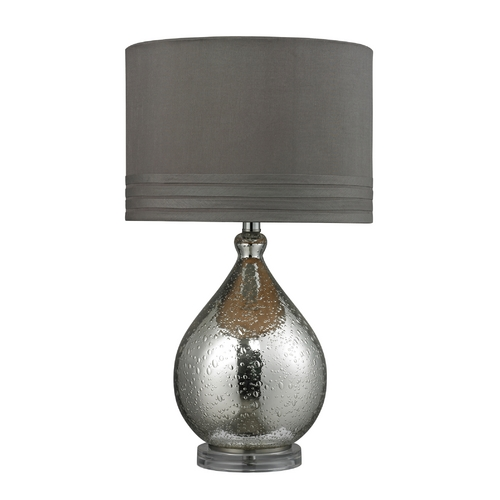 Dimond Lighting Table Lamp with Mercury Glass and Drum Lamp Shade D252