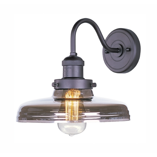 Maxim Lighting Sconce Wall Light with Clear Glass in Bronze Finish 25087MSKBZ/BUI