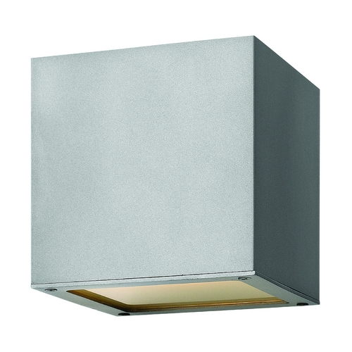Hinkley Lighting Modern Outdoor Wall Light with Etched in Titanium Finish 1767TT