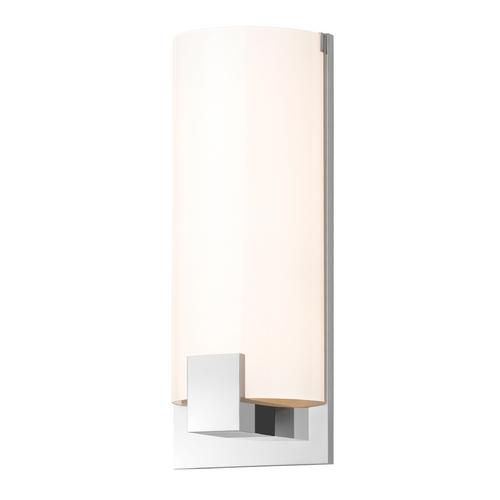 Sonneman Lighting Modern Sconce Wall Light with White Glass in Polished Chrome Finish 3662.01