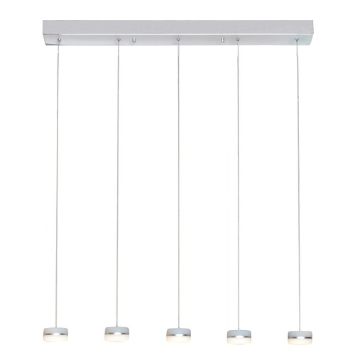 ET2 Lighting Mint Polished Chrome LED Multi-Light Pendant with Drum Shade E22495-11PC