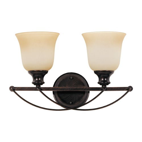 Sea Gull Lighting Sea Gull Lighting Park West Burnt Sienna Bathroom Light 44496-710