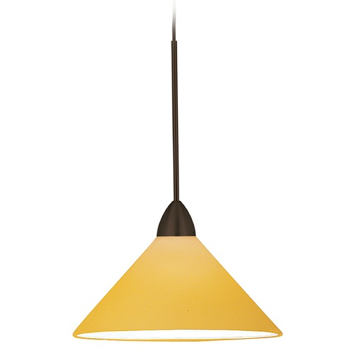 WAC Lighting Wac Lighting Contemporary Collection Dark Bronze LED Mini-Pendant with Conical Shad MP-LED512-AM/DB