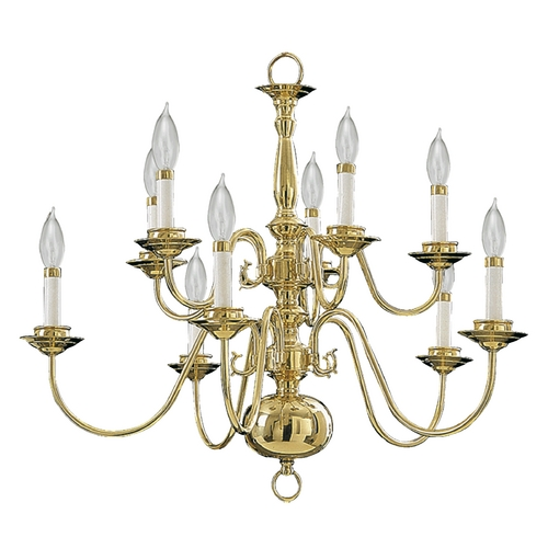 Quorum Lighting Quorum Lighting Polished Brass Chandelier 6171-10-2