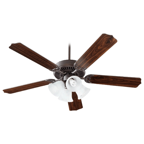 Quorum Lighting Quorum Lighting Capri V Toasted Sienna Ceiling Fan with Light 77525-8144
