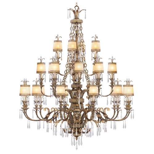 Livex Lighting Livex Lighting La Bella Vintage Gold Leaf Crystal Chandelier 8910-65