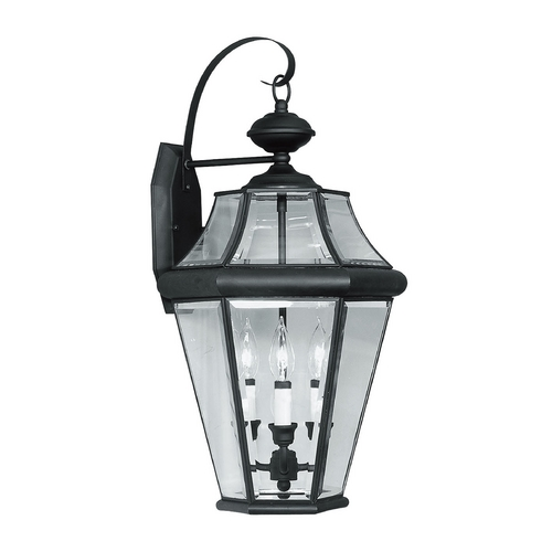 Livex Lighting Livex Lighting Georgetown Black Outdoor Wall Light 2361-04