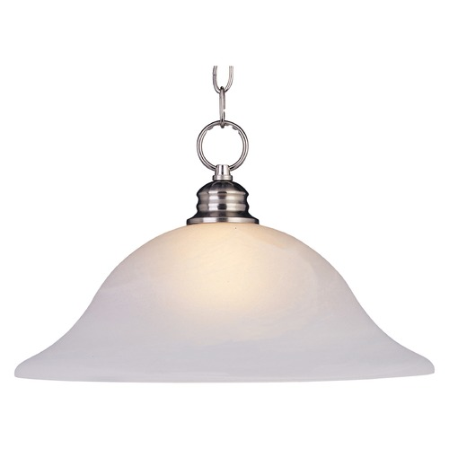Maxim Lighting Maxim Lighting Essentials Satin Nickel Pendant Light with Bowl / Dome Shade 91076FTSN