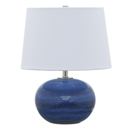 House of Troy Lighting House Of Troy Scatchard Blue Gloss Table Lamp with Empire Shade GS600-BG