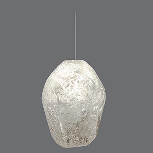 Fine Art Lamps Fine Art Lamps Natural Inspirations Gold-Toned Silver Leaf Mini-Pendant Light 852240-13ST