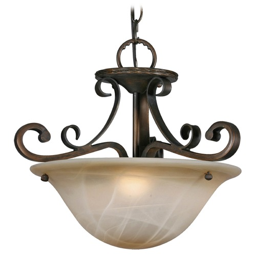 Golden Lighting Golden Lighting Meridian Golden Bronze Pendant Light 3890-SF GB