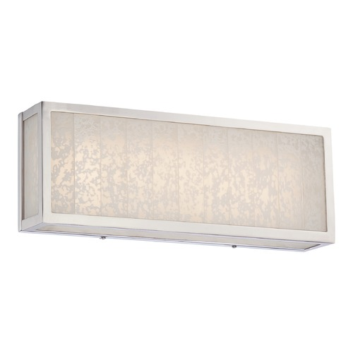 Metropolitan Lighting Metropolitan Lake Frost Polished Nickel LED Bathroom Light N1742-613-L