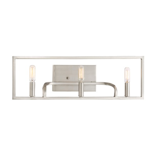 Designers Fountain Lighting Designers Fountain Uptown Satin Platinum Bathroom Light 88403-SP