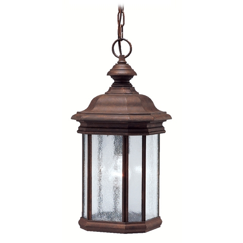 Kichler Lighting Kichler Outdoor Hanging Light in Tannery Bronze Finish 9810TZ