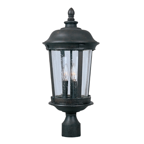 Maxim Lighting Post Light with Clear Glass in Bronze Finish 40091CDBZ