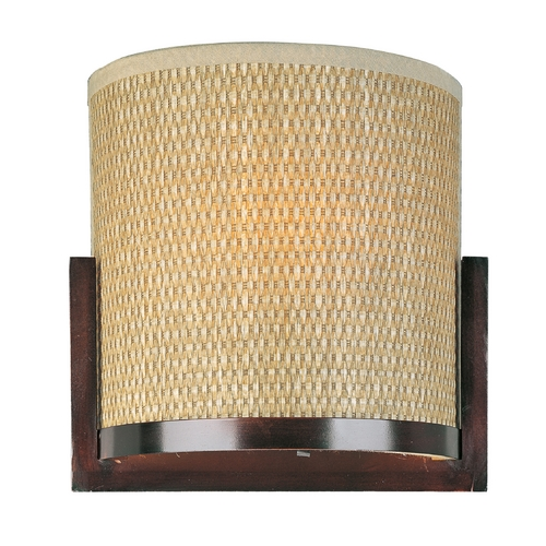 ET2 Lighting Modern Sconce Wall Light with Brown Tones Shades in Oil Rubbed Bronze Finish E95088-101OI