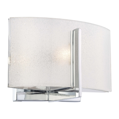Minka Lavery Sconce with White Glass in Chrome Finish 6391-77
