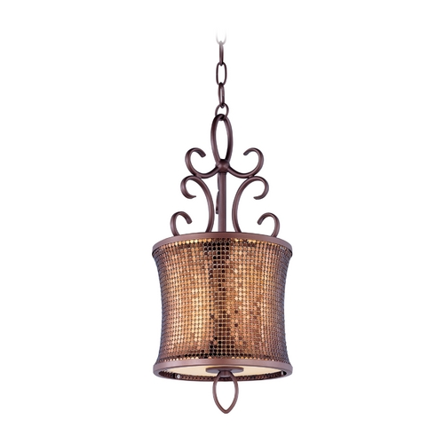 Maxim Lighting Drum Pendant Light in Umber Bronze Finish 94160SBUB