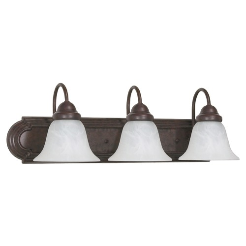Nuvo Lighting Bathroom Light with Alabaster Glass in Old Bronze Finish 60/325