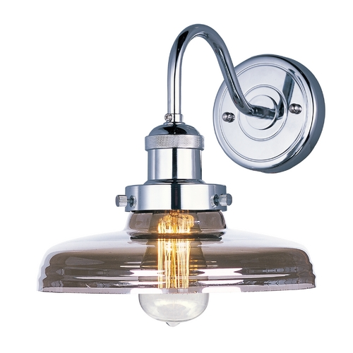 Maxim Lighting Sconce Wall Light with Clear Glass in Polished Nickel Finish 25087MSKPN
