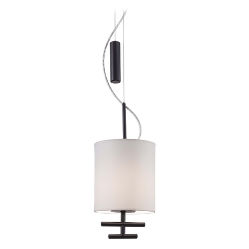 George Kovacs Lighting Modern Mini-Pendant Light with White Shade P542-617