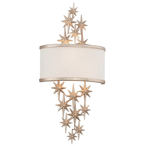 Corbett Lighting Corbett Lighting Superstar Textured Silver Leaf Sconce 200-12