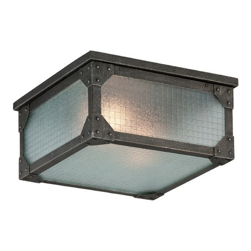 Troy Lighting Troy Lighting Hoboken Aged Pewter Close To Ceiling Light C3870
