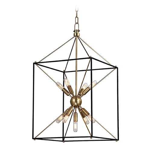Hudson Valley Lighting Hudson Valley Lighting Glendale Aged Brass Pendant Light 8916-AGB