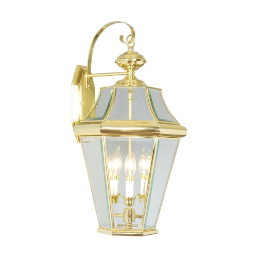 Livex Lighting Livex Lighting Georgetown Polished Brass Outdoor Wall Light 2361-02