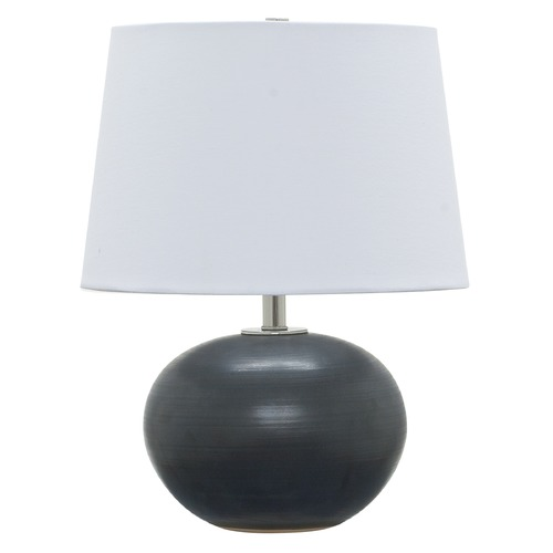 House of Troy Lighting House Of Troy Scatchard Black Matte Table Lamp with Empire Shade GS600-BM