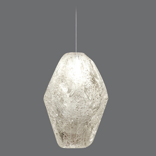 Fine Art Lamps Fine Art Lamps Natural Inspirations Gold-Toned Silver Leaf Mini-Pendant Light 852240-14ST