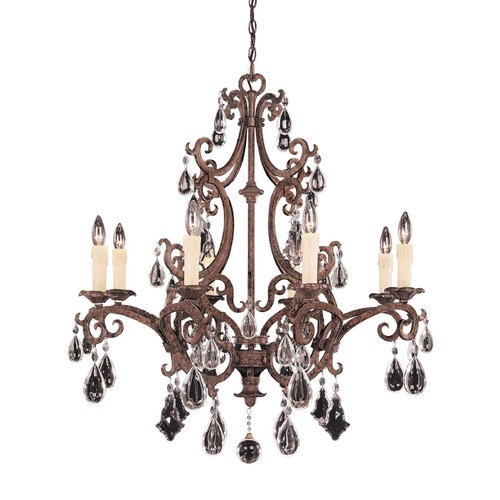 Savoy House Savoy House New Tortoise Shell Crystal Chandelier 1-1401-8-56