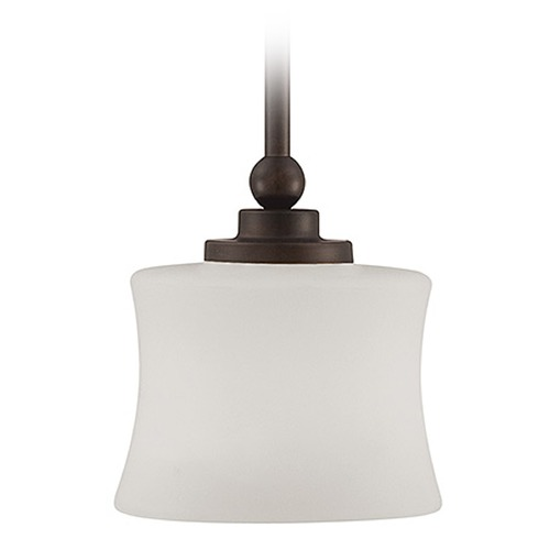 Savoy House Savoy House English Bronze Mini-Pendant Light with Cylindrical Shade 7P-7212-1-13