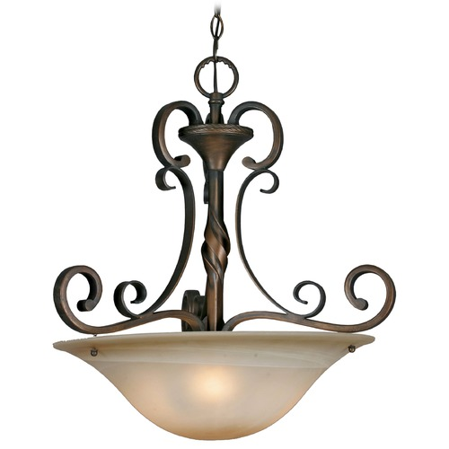 Golden Lighting Golden Lighting Meridian Golden Bronze Pendant Light 3890-3P GB