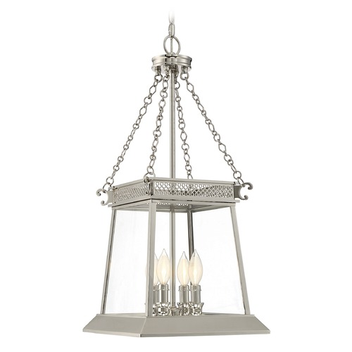 Savoy House Savoy House Lighting Norwich Polished Nickel Pendant Light with Square Shade 3-940-4-109
