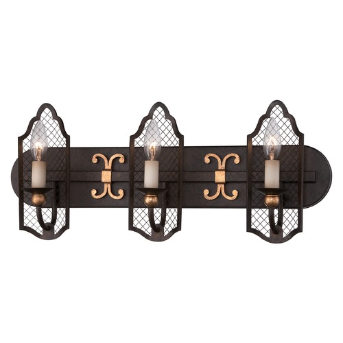 Metropolitan Lighting Metropolitan Cortona French Bronze W/ Gold Highligh Bathroom Light N2713-258B