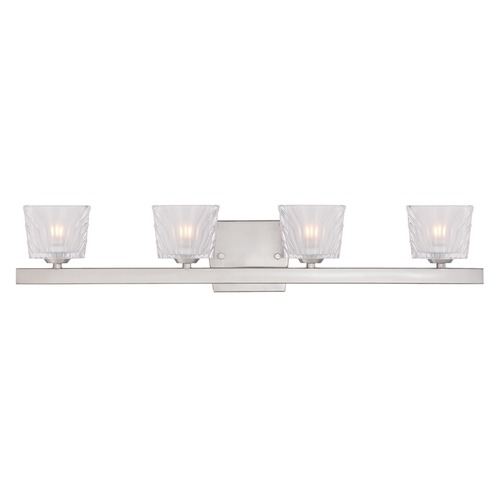 Designers Fountain Lighting Designers Fountain Volare Satin Platinum Bathroom Light 68104-SP
