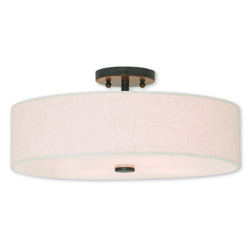 Livex Lighting Livex Lighting Meridian English Bronze Semi-Flushmount Light 52136-92