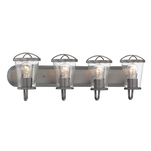 Designers Fountain Lighting Designers Fountain Darby Weathered Iron Bathroom Light 87004-WI