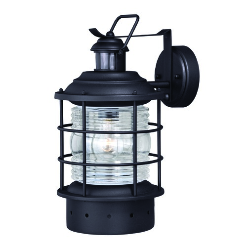 Vaxcel Lighting Hyannis Textured Black Outdoor Wall Light by Vaxcel Lighting T0256