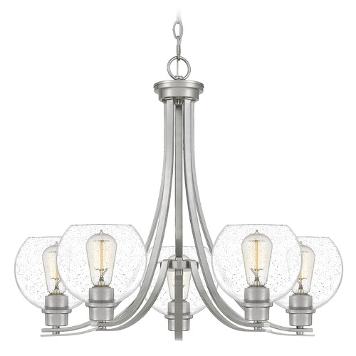 Quoizel Lighting Quoizel Lighting Pruitt Brushed Nickel Chandelier PRUS5026BN