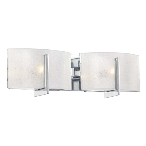 Minka Lavery Bathroom Light with White Glass in Chrome Finish 6392-77