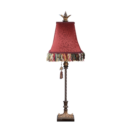 Dimond Lighting Console & Buffet Lamp with Red Shade 91-148